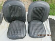 Triumph Austin Healey British Sport Car LOT - Pair of Black Seats cushions etc.