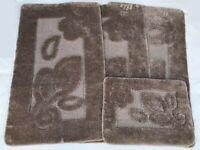 ROMANY GYPSY MICROFIBER WASHABLE RUG/MAT 4pc SET (ULTRA SOFTNESS), EVRA FLOWER