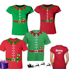 Christmas Elf T-Shirt Top Personalised Tee Ladies,Mens Fancy Santa Xmas Novelty