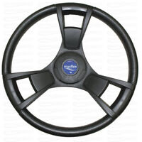 "Marine Boat Steering Wheel Black Pretech Maxflex 350 mm For 3/4"" Tapered Shaft"