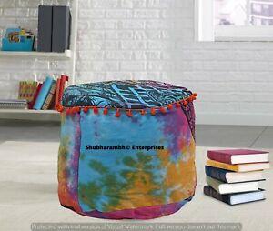 Large Mandala Ottomans Storage Poufs Cover Boho Footstools Indian Pillows Decor