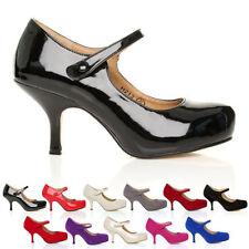 Women's Synthetic Leather Kitten High (3-4.5 in.) Heels
