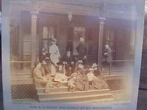 "1885 President U.S. Grant and Family-Original Antique Photo 9"" X 7"" Photograph"