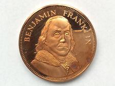 1971 Franklin Mint Benjamin Franklin Proof Bronze Medal Great Americans A1816
