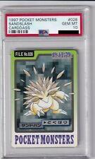Pokemon Card Japanese Sandslash No. 028 Carddass Bandai Graded PSA 10 GEM MINT