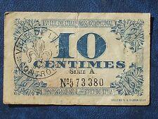 billet de 10 centimes 1917 lille