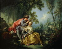 Francois Boucher The Four Seasons Spring Giclee Canvas Print Paintings Poster