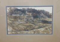 Mike Larsen Original Watercolor Painting Oklahoma Artist