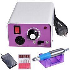 Electric Nail File Drill Kit Acrylic Manicure Pedicure Machine Foot Pedal 6 Bits