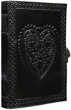 Large Vintage Heart Embossed Black Leather Journalinstagram Photo Album 8 X 6