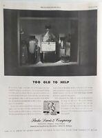 Lot 3 Vintage 1950's Parke Davis Print Ads Too Old to Help