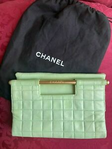 Authentic Vintage Chanel Mint Green Clutch
