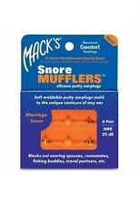 Macks MACK'S #2866 Study Sleep SNORE MUFFLERS EARPLUGS Snoring Swimming 6 pairs