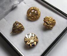 More details for 4 x vintage old badges goodyear hallmarked 9ct gold sterling silver job lot