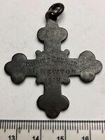 1915 Hand Engraved Sunday School Cross - M. NEWTON, CHRIST CHURCH, 1915 (C174)