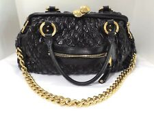 MARC JACOBS BEAUTIFUL BLACK QUILTED LEATHER GOLD CHAIN MARC JACOBS BAG