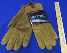 Isotoner Smart Touch Cocoa Brown Gloves Phone Screens Pointer Thumb XL SOFT