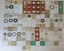 FINE CASED COLLECTION OF 44  ANTIQUE DIATOM MICROSCOPE SLIDES