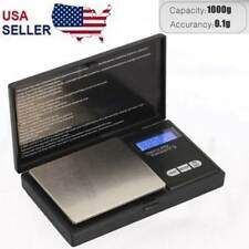 Digital Scale 1000g x 0.1g Jewelry Gram Silver Gold Coin Pocket Size Herb Grain