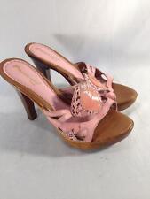 Passarela Brazil Pink Leather Snake Print  Slip-On Sandal Sz. 5  #B340