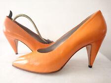 """Escarpins Haut de gamme --  Cuir """"Orange""""  --  I.BOSSI  --  T. 39,5"""
