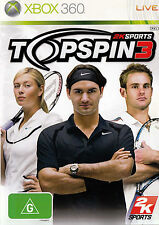 TOPSPIN 3 Xbox 360 Game