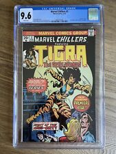 MARVEL CHILLERS #3 CGC 9.6 (1976) Beautiful! NM+ White Pages! Origin of Tigra!