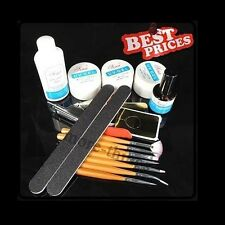 Gel UV Nail Art Kit Set Topcoat Cleanser Pennello
