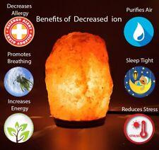 Natural Himalayan Rock Salt Lamp 1.5-2kg On Wooden Base. (Plug & Bulb Included)