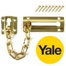 YALE BRASS DOOR CHAIN High Security Restrictor Lock Safe Caller ID Catch Guard