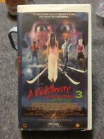 A Nightmare On Elm Street 3 VHS Movie Tape Video Horror 1987 1st Rel Clamshell