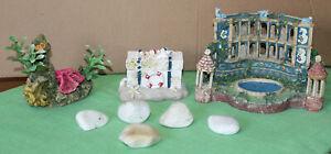Aquarium Decorations / Ornaments / Job Lot / Treasure Chest / Fishtank / Pebbles