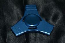 Light Blue Metallic Aluminum Fidget Spinner Metal Tri Fecta Kids To Adults Toys