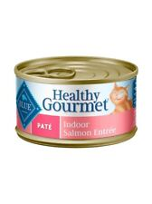 BLUE BUFFALO HEALTHY GOURMET INDOOR SALMON PATE CAT ADULT FOOD Canned 5.5oz