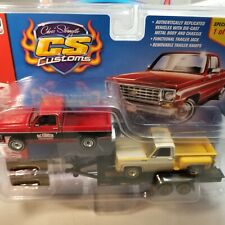 Auto World CS Customs Exclusive 1st time packaged 2 truck w/ trailer 1 of 2016