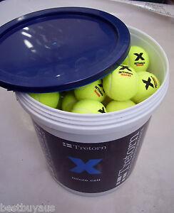 72 NEW TRETORN MICRO X CELL PRESSURELESS TENNIS BALLS PRACTICE & BALL MACHINES