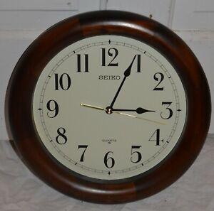 Seiko Classic Wooden Wall Clock