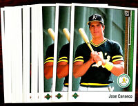 1989 Upper Deck JOSE CANSECO ~ 20 CARDS LOT ~ OAKLAND A's  1ST 40/40 SUPER STAR