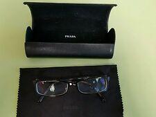 Prada Eyeglasses Glasses Prescription Womens Frame VPR01I 2AU101 Gold Tortoise