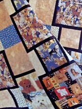 """DOG LOVER -Handmade lap/sofa/throw quilt-bed topper-patchwork-multi 48x58"""""""