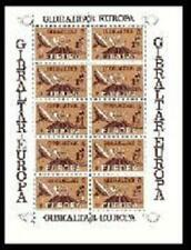 Bloc mini-feuillet 10 timbres 3P Europa Gibraltar 1979