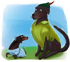 Pet Drawing Cartoon Portrait Digital Art Custom Made From Your Photo