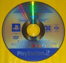 FORMULA ONE 2003 Ps2 Versione Promo Europea gioco completo F1 F 1 »»» SOLO DISCO