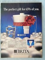 1990 Magazine Advertisement Page For Brita Water Fiter Systems Holiday Ad