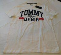 Tommy Hilfiger Denim short sleeve t shirt M medium 78D2657 118 Off White NWT