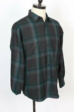 PENDLETON 100% Wool Shadow Plaid Button Up Shirt Mens Size XL