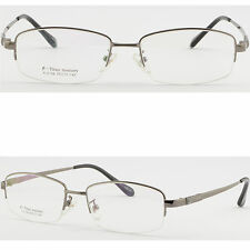 Herren Brille Memory Titan Brillengestell Square Flexibel Metall Fassung Grau
