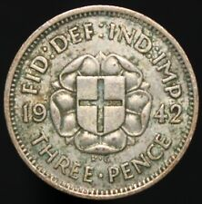 1942 | George VI Threepence | Silver | Coins | KM Coins