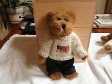 "Boyds Bears ""Edmund"" Usa Flag Sweater #9175-18, 8"" Rare Retired Plush Teddy Bear"