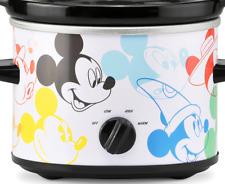 Slow Cooker Disney 2 Qt Crock Pot Mickey Mouse Nostalgic Graphics % New